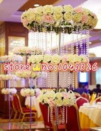 10m Lot Acrylic Crystal Bead Curtain Garland Wedding Head Table Decor Party Backdrop Event Supplies In DIY Decorations From Home Garden On