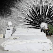 fototapete pusteblumen pusteblume schwarz weiß