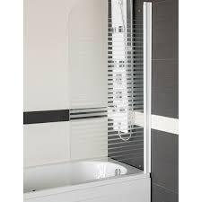 si e pivotant de baignoire pare baignoire un volet pivotant 180 en verre transparent sécurisé