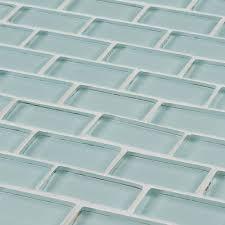 Jeffrey Court Mosaic Tile by Jeffrey Court Glacier Ice Brick 12 In X 12 In X 8 Mm Glass