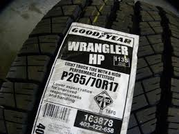 100 Goodyear Truck Tires Wrangler WR Tire Inc