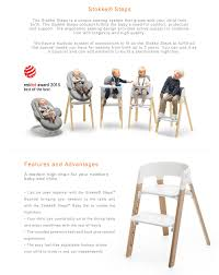 Stokke Steps Chair (White) Modern High Chairs Stokke Tripp Trapp Chair For Baby And Steps A Review Mummy Have You Ever Wondered About The How We Our Fave 5 Chairs That Will Stand Test Of Time Reasons To Love Montessori Friendly Highchairs Some Options White Baby Set Cushion Tray Natural Builder Motherswork How Choose Best Accsories