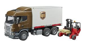 100 Ups Truck Toy Bruder Scania RSeries Logistics With Forklift Vehicles