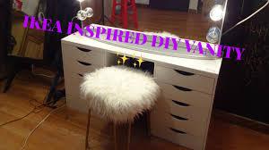 Vanity Table Ikea Hack by Ikea Hack Simple Diy Vanity Table Youtube