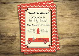 Fire Truck Birthday Party Invitation Retro Vintage Antique | Etsy