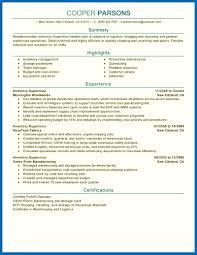 Objective For Resume Warehouse Supervisor Sample