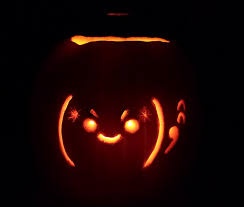Devil Emoji Pumpkin Carving by Japanese Emoticon Pumpkin Carving Contest Results