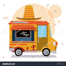 Taco Mexican Truck Fast Food Delivery Stock Vector (Royalty Free ...