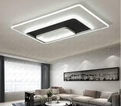 مستطيل أبيض أسود أضواء السقف الحديثة لغرفة النوم غرفة المعيشة بريق إضاءة السقف مصباح llfa 2021 من nimiled 627 19ر س موبايل dhgate
