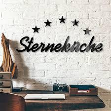 wall sterne dekobuchstaben 3d acrylbuchstaben sterneküche schwarz deko buchstaben küche 54x10 cm schriftzug aus glas