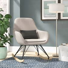 Brayden Studio Decker Rocking Chair & Reviews | Wayfair Cheap Modern Rocking Chair Find Joseph Allen Wayfair Concrete Rocking Chair Lichterloh Baby Czech Republic 1950s American Gf058wy Sold Reviews Joss Main Allmodern Aries Milo Baughman Style Chrome Mid Century
