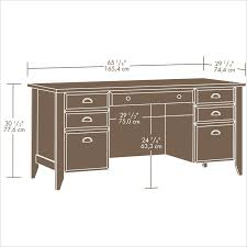 shoal creek executive desk jamocha wood 408920 sauder