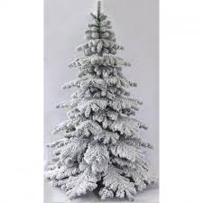 The Snow White Fir 5ft To 8ft Heavily Flocked Christmas Trees