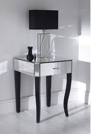 Santorini L Shaped Computer Desk by Nightstand Appealing Claudette S On Slim Nightstand Silver