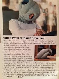 Power Nap Head Pillow