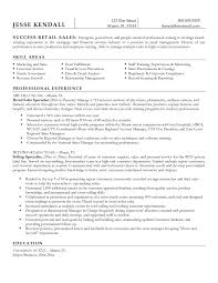 Sample Resume For Sales Support Specialist Valid Retail Shalomhouse