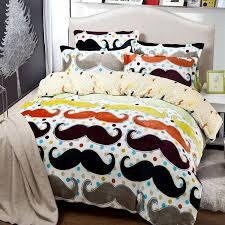 Mustache Bedding forter Set Twin Full Queen King Size Duvet