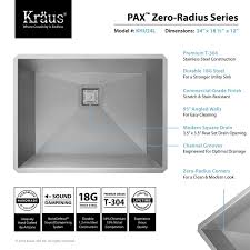 Stainless Steel Utility Sink Canada by Pax Undermount Laundry Sink Khu24l By Kraus Yliving