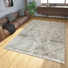 teppich modern ethno beige creme wohnzimmer teppiche