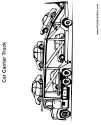 Car And Truck Coloring Pages