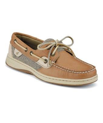 Sperry Women's Top-Sider Bluefish Two-Eye Boat Shoes, Linen/Oat, 7