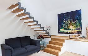 treppenbau schmidt treppe aus holz und stahl mit podest