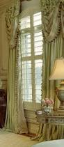 Lace Curtains Panels With Attached Valance by Formal Swags Layered Over Ruched Draperies Custom Draperies