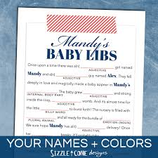 Halloween Mad Libs Pdf by Printable Gender Reveal Party Game Baby Predictions Madlibs