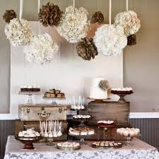 Burlap Lace Wedding Reception Decor Rustic Elegant Neutral Tones Dessert Table Styles And Ideas