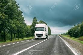 100 Prime Trucking White Truck Or Tractor Unit Mover Traction Unit In Motion