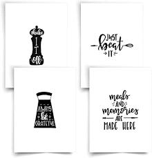 donari bilder küche set schwarz weiß din a4 küchenbilder deko für wand bild kitchen ohne rahmen dekoration wandbilder poster wandbilder