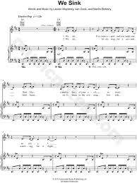chvrches we sink sheet music in d major transposable