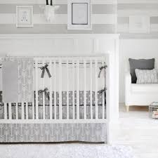 gray arrow wanderlust in gray baby bedding set jack and jill