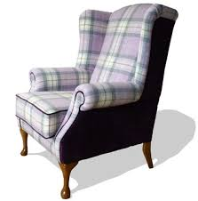 highlander tartan armchair upholstered by feather weave