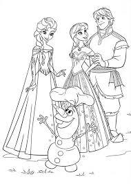 Frozen Anna Elsa Kristoff Olaf Coloring Printable