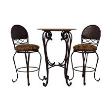 64% OFF - Wood And Metal Bistro Pub Table And Stools / Tables