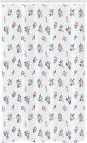 abakuhaus duschvorhang badezimmer deko set aus stoff mit haken breite 120 cm höhe 180 cm blumen roses blütenblatt in der weinlese
