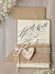Picture Of Rustic Wedding Invitation With Burlap