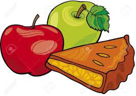 Slice of apple pie clipart