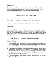 Sample Consulting Agreement Contract