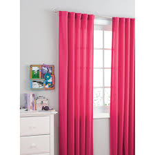 Light Pink Ruffle Blackout Curtains by Your Zone Kids Bedroom Curtain Panel Walmart Com