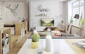 Scandinavian Interior Is Characteristic Of The Classic Look White Color Combined With Light From Large Windows Following Design