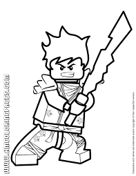 Ninjago Kai KX Holding Elemental Weapon Coloring Page