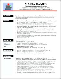 Professor Resume Sample Pdf Feat Special Education Resumes Objectives Elementary Teacher Objective Of Teaching