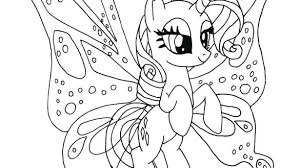 Pony Coloring Pages Printable My Little With