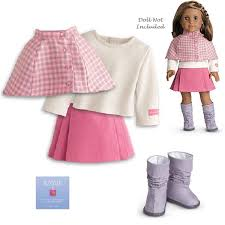 Buy American Girl Doll Cozy Plaid Outfit 2 Skirts 1 Top BOOTS Help