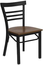 HERCULES Series Black Ladder Back Metal Restaurant Chair
