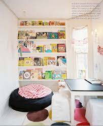 Chic Kids Rooms A Playroom With Giant Bean Bag Chair And Built In