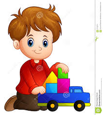 100 Build A Truck Game Little Boy House Out Of Blocks With Toy Stock