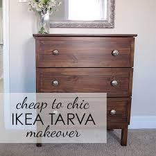Ikea Tarva 6 Drawer Dresser by Simple U0026 Chic Ikea Tarva Makeover With Gel Stain Trim U0026 Mercury